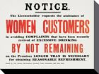 New Notice To Women Customers Imperial War Museum Canvas Print