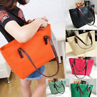 Women Ladies PU Leather Handbag Vintage Print Candy Color Tote Shoulder Bags New