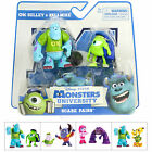 Scare Pairs Pack Of 2 Poseable Monsters University Movie Figures Sulley Mike Art