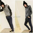 Shirt Womens Pullover Long Sleeve Leather Blouse Tops Korean Hooded Ladies DZ88