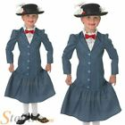 Child Mary Poppins Fancy Dress Costume Book Week Disney Kids Girls Outfit