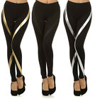 CELEBRITY STYLE Stripe Wrap Womens Spandex Legging Tight Fashion Pants