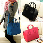 Fashion Woman Frosted PU Leather Handbag Shoulder Bags Satchel Tote Messenger #L