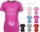 WOMENS BABY ON BOARD FEET MATERNITY T SHIRT PREGNANCY T SHIRT 8 10 12 14 16