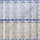 LACE NET VOILE LOUVRE VERTICAL PLEATED WINDOW BLIND PANEL CURTAIN WHITE & CREAM