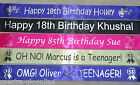 PERSONALISED 30th 40th 50th 60th ANY AGE BIRTHDAY PARTY BANNER~ FAST DESPATCH