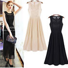 Sexy Women Ladies Vintage Lace Long Maxi Evening Formal Cocktail Party Dresses