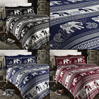 ELEPHANT ANIMAL PRINT REVERSIBLE QUILT DUVET COVER BEDDING SET WITH PILLOW CASE