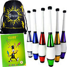 Euro Metallic Juggling Club  Set - 3  Clubs + Club Juggling Book + Travel Bag