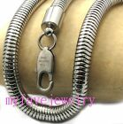 6.5mm Mens 316L Stainlesss Steel Round Snake Chain Necklace or Bracelet