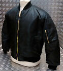 MA1 US Military Style Bomber Jacket MOD / Scooter / Bikers Black All Sizes - NEW