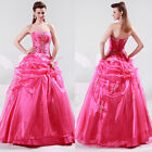 2015 CLASSY Quinceanera Ball Gown Cocktail Evening WEDDING Prom Party LONG Dress