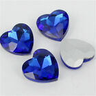 8mm Heart Point back Rhinestones Crystal Glass Chatons Chatons Strass 100ps