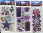 U CHOOSE  Disney Hannah Montana POP STAR SECRET STAR ICON & TITLE 3D Stickers