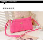 Women's Handbag PU Leather Fake Crocodile Bag Shoulder Strap Zipper Wallet Purse