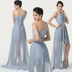 FASHION One Shoulder High-Low Chiffon Gown Evening Prom Party Dresses Size 2-16