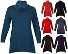 Womens Long Sleeve Ladies Stretch Uneven Hem Knitted Sweatshirt Top Plus Size