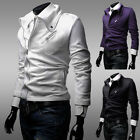 2015 NEWLY CASUAL MILITARY MEN'S SLIM FIT OUTERWEAR COATS JACKETS IN 4 SIZE XS-L