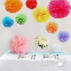 5pcs Wedding Tissue Paper Pom Poms Party Xmas Home Outdoor Flower Balls Decor