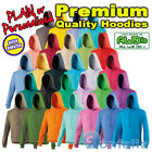 NEW Plain Hoodies - Personalise item with your text - Men Ladies Unisex Hoody