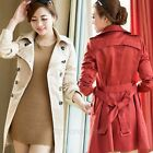New Womens Long Sleeve Bussiness Coat Jacket Outerwear Tops Overcoat Windbreak