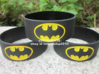 "Super Heros Batman 1"" Wide High Quality Silicone Black Wristband Bracelet"