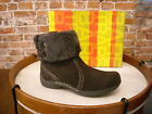 Bare Traps Heidy Dark Brown Suede & Faux Fur Ankle Boots NEW