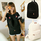 New Sweet Canvas Lace Backpack Womens Schoolbag Handbag Campus Book Bag Hot Sell