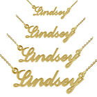 9ct Solid Gold Carrie Style ANY Name Necklace Small Medium Large In Gift Box