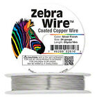 Zebra Wire coated coppersilverround 1416182022242628 gaugepick your si