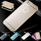Luxury Hybrid Metal Back Case Cover Protector For iphone 5 SE 6 6s Plus