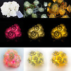 20LED Rose Flower Fairy String Light Party Christmas Decoration Battery Operated