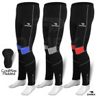 Mens Cycling Tights Winter Thermal Padded Pants Cycle Long Trouser Legging NEW