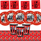 One Direction, 1D, Birthday Party Tableware, Plates, Cups, Napkins & More !!