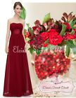 BNWT LOUISE Cranberry Red  Chiffon Bridesmaid Maxi Long Evening Dress UK 8 -18