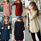 Fashion Ladies Round Neck Knitted Pullover Jumper Casual Loose Sweater Knitwear