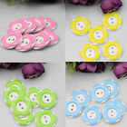 10pc 26mm Plastic Resin Buttons Wintersweet Flower Sewing Button 2 holes Round