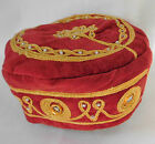 Smoking hat Velvet fancy dress cap IMPERFECT Seconds Choice of size panto stage