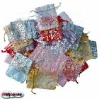 New Organza Jewelry Gift Pouch Bags Mixed Color 7x9cm 3X4 Inch