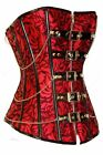 Jacquard Print Corset Steampunk Gothic Overbust Victorian Boning
