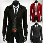 XMAS❤TOP SALE❤Men Winter Long Jackets D-Breasted Trench Coat Parka Jacket Blazer