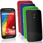 Glossy TPU Gel Case for Motorola Moto G 2nd Gen XT1068 Skin Cover + Screen Prot