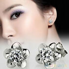 Stunning Party Silver Plated Platinum Plated Allergy Free Crystal Stud Earrings
