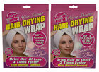 WHITE or PINK MICROFIBRE TURBIE WRAP TWIST/HAIR DRYING TOWEL/TURBAN-SHOWER/BATH