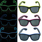 Multicolor Frame EL Wire Glow Sun Glasses LED DJ Bright Light Safety Light Up