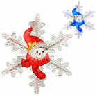 30cm Light Up LED Acrylic Snowman Snowflake Indoor Christmas Xmas Decoration
