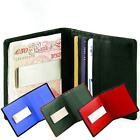 Leather Slimline Money Clip/Card Holder with ID/Oyster Card/Travel Pass Window