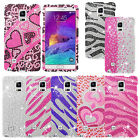 Bling Gem Diamond Hard Cover Snap On Case For Samsung Galaxy Note 4