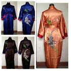 Hot Sale Reversal Double-Sides Men's Robe Gown Embroidery Dragon&Tiger Sleepwear