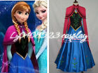 FROZEN Princess Anna Dress/Cloak Suit Adult Girl Cosplay Costume-Free shipping